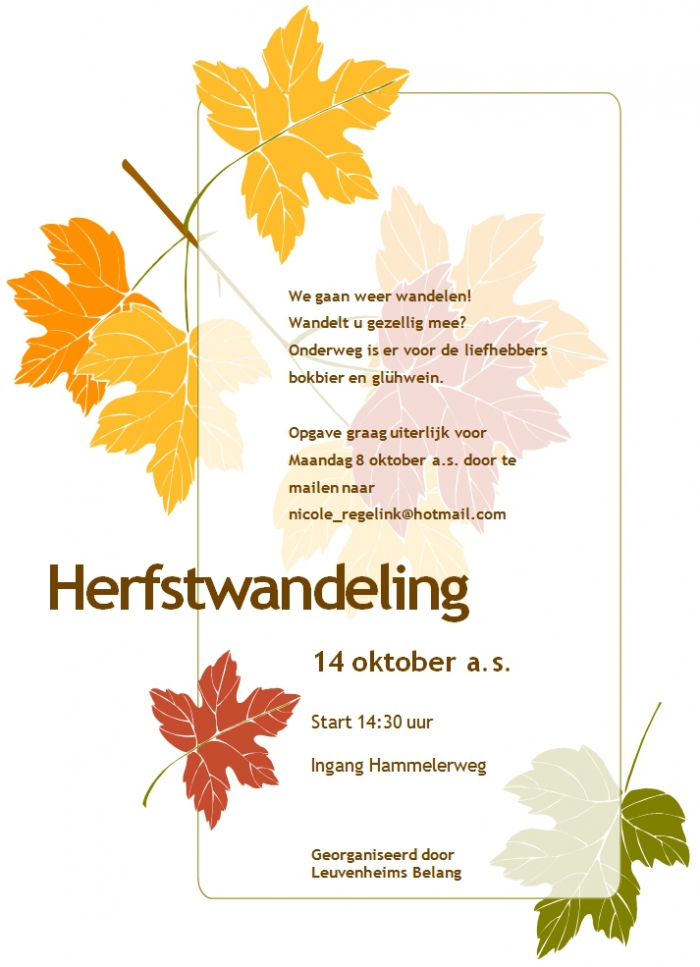 Herfstwandeling Leuvenheim